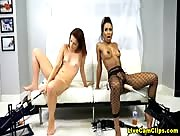 FetishNetwork Two Girls Fucked By Dildo Sex Machines Free Webcam Video Chat
