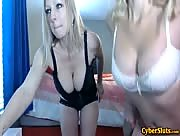 Britneyathome Busty Blonde Milfs Strip For Money