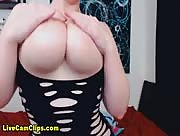 Kitty_LeRoux Purple Haired Busty BBW Freecam Clip