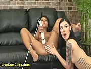 WildOnCam Lesbian Sex Cam Featuring Moran Lee And Marley Brinx