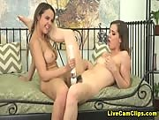 WildOnCam Hot Webcam Models Lesbo Sex With Dillion Harper & Kasey Warner
