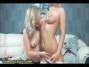 YesSir18 Busty Blonde Teen Girl Best Friends Lesbian Show