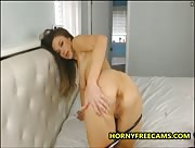 Erin_Swallows_Adorable Brunette Fucks Creamy Pussy Really Rough