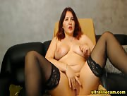 KimberlyUrGloss - Busty Redheaded Beautiful Babe Naughty Strips
