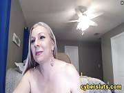 Britneyathome Cum & Play Blonde Curvy MILF