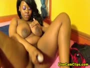 PinkCandy Black Webcam Playing Her Long Dildo