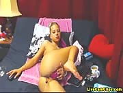 TracySquirt Sex Toys In Her Holes Freecam