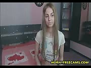 NewTeen1995 Young Teen With Angel Face Strips And Masturbates
