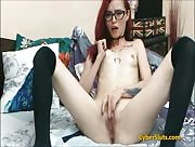 _REBEKAH Cute Skinny Redhead With Glasses On Webcam