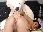 4JuicyJess - Seductive Brunette Happy Time Live On Webcam
