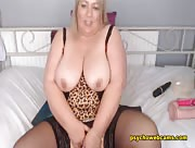 English_Milf - Chubby Blonde An Eyeful Breasts And Breathtaking Cam Show