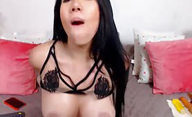 Spicy Latina Fucks Her Pussy and Ass With DIldo