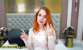 SandraBurns Redhead Chick Ready To Play On Live Cam